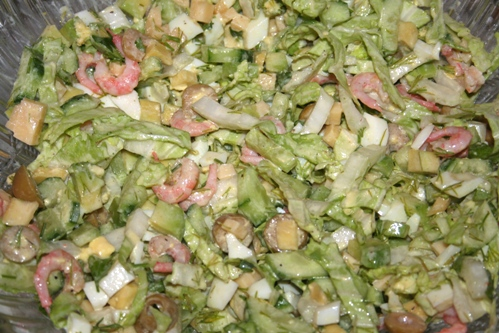 рецепт салата из креветок с авокадо в авокадо