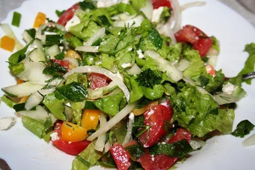 рецепт греческого салата со специями